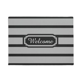 "CHIC DOOR MAT_""WELCOME"" BLACK/GRAY/WHITE DOORMAT"