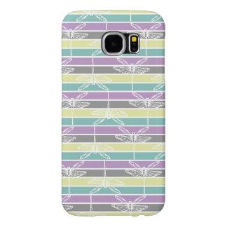 Chic Dragonflies rainbow rural feminine marries Samsung Galaxy S6 Cases