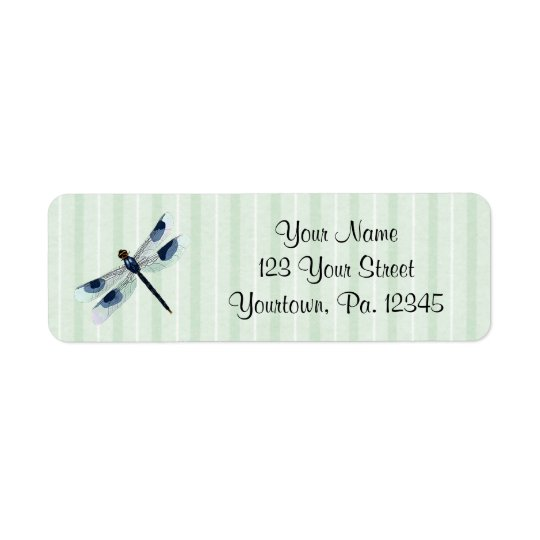 Chic Dragonfly Address Label