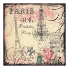 Chic Eiffel Tower & Chandelier 90th Birthday Card