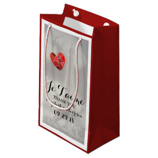 Chic Eiffel Tower Je T'aime Wedding Small Gift Bag