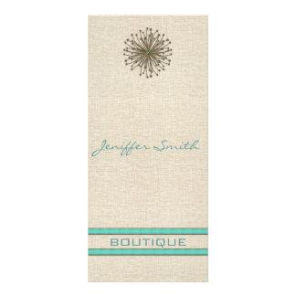 Chic elegant dandelion turquoise stripes custom rack cards