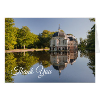 Chic Estate Reflected in Pond Thank You Blank Note Card