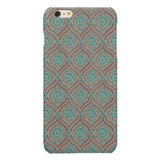 Chic Ethnic Ogee Pattern in Maroon, Teal and Beige