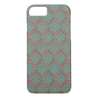 Chic Ethnic Ogee Pattern in Maroon, Teal and Beige iPhone 8/7 Case