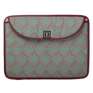 Chic Ethnic Ogee Pattern in Maroon, Teal and Beige Sleeve For MacBook Pro