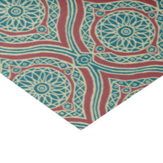 Chic Ethnic Ogee Pattern in Maroon, Teal and Beige Tissue Paper