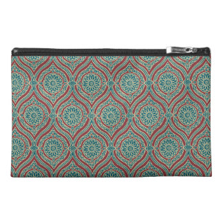 Chic Ethnic Ogee Pattern in Maroon, Teal and Beige Travel Accessory Bag