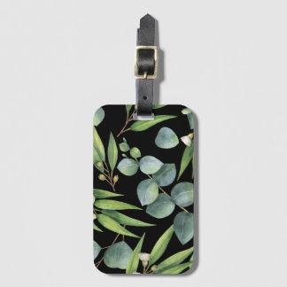 Chic Eucalyptus Foliage Custom Color Luggage Tag