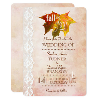 Chic Fall in Love Romantic Wedding Invite
