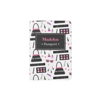 Chic Fashion Fashionista Pattern Passport Holder