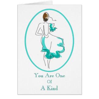 Chic Fashion Illustration Card