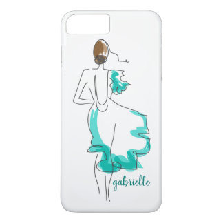 Chic Fashion Illustration iPhone 8 Plus/7 Plus Case