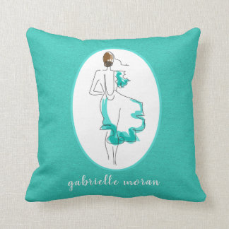 Chic Fashion Illustration Throw Pillow