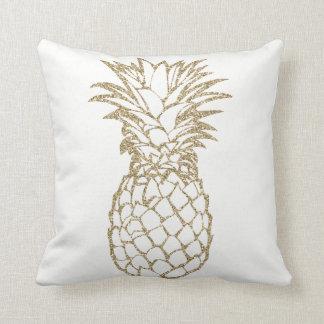 Chic Faux Glitter Pineapple Throw Pillow Cushion