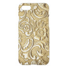 Chic Faux Gold Antique Baroque Flowers Pattern iPhone 8/7 Case
