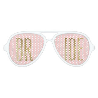 Chic Faux Gold Bride Sunglasses