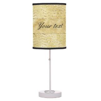 Chic Faux Gold Glitter Chevrons Desk Lamp