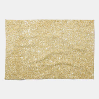 Chic Faux Gold Glitter Luxury Kitchen Towel