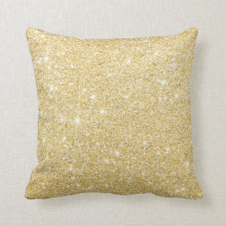 Chic Faux Gold Glitter Luxury Pillow