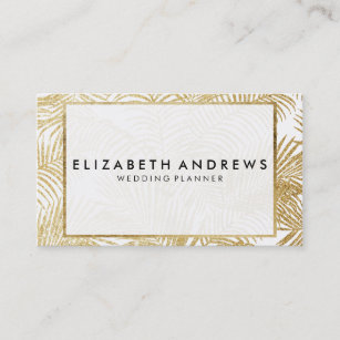 Beauty palm tree business cards profile cards zazzle ca chic faux gold glitter palm tree business cards colourmoves