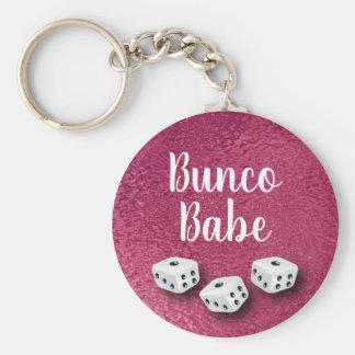 Chic Faux Pink Foil Bunco Dice Keychain