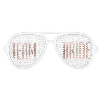 Chic Faux Rose Gold Team Bride Sunglasses