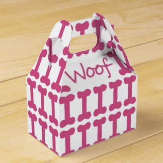 "CHIC FAVOR/GIFT BOX_""Woof"" DOG FAVOR BOX"