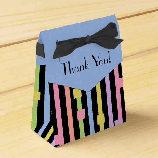 CHIC FAVOR/GIFT_Thank You! PASTEL STRIPES Favor Box