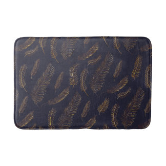 Chic Feather Printed Bath Mat