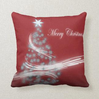 chic festive xmas evergreen Christmas Tree Throw Pillow