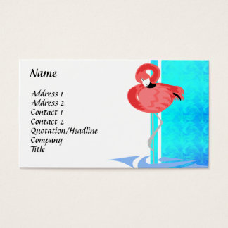 Chic Flamingo Business Card