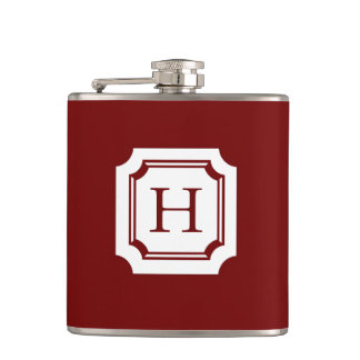 CHIC FLASK_18 RED WITH CLASSIC MONOGRAM FLASKS
