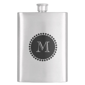 CHIC FLASK_ BLACK/SILVER HIP FLASK