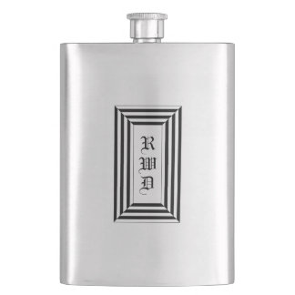 CHIC FLASK_CLASSIC MONOGRAM & STRIPES HIP FLASK
