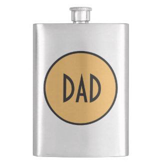 "CHIC FLASK_""Dad"" 56 GOLD/BLACK/STEEL Flasks"