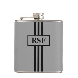 CHIC FLASK _GRAY/BLACK STRIPES