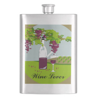 """CHIC FLASK_""""Wine Lover"""" Hip Flask"""