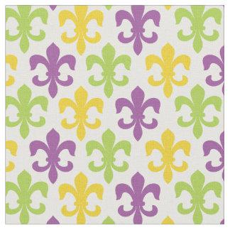Chic Fleur De Lis Mardi Gras Pattern Fabric