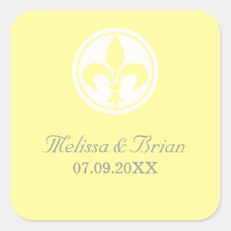 Chic Fleur De Lis Stickers, Yellow