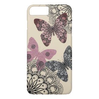 Chic Floral Butterfly i Phone Case