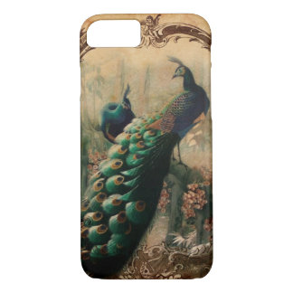 chic floral french country modern vintage peacock iPhone 8/7 case