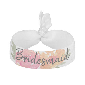 Chic floral hair tie bridesmaid gift