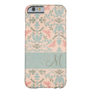 Chic Floral Monogram Damask Barely There iPhone 6 Case