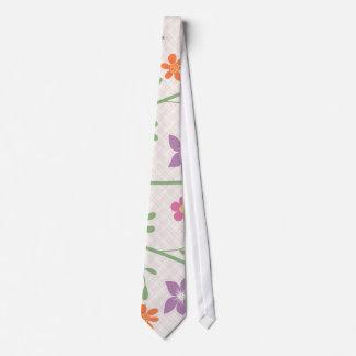 Chic Floral Pattern Design Tie