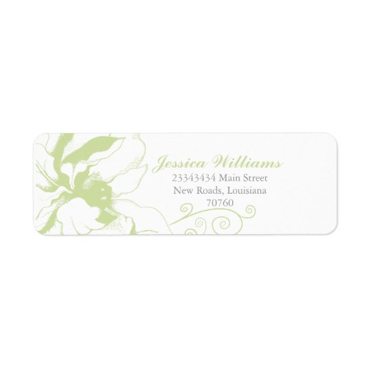 Chic Floral Return Address Label
