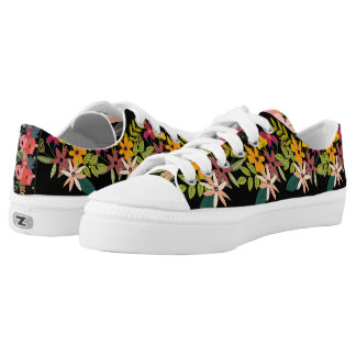 Chic flower bouquet Low Top Shoes-US Women