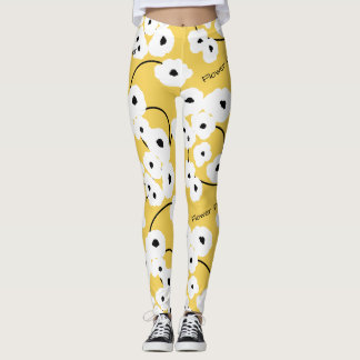"CHIC ""Flower Power"" LEGGINGS_MOD FLORAL POPPIES Leggings"