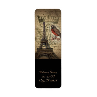 Chic French Bird Modern Vintage Paris Eiffel tower