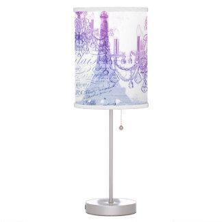 chic french purple chandelier paris eiffel tower table lamp